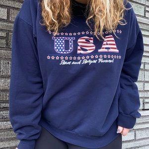 Vintage USA Crewneck Sweatshirt Top